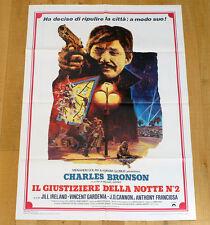 IL GIUSTIZIERE DELLA NOTTE n°2 poster manifesto Death Wish II Charles Bronson
