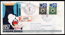 EUROPA CEPT FDC 1957 PAYS BAS 1