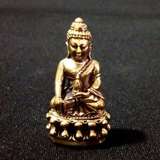 Buddha Thai Amulets Phra Kring Brass Figurine Statue Sacred Protect Lucky D25
