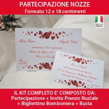 PARTECIPAZIONI NOZZE Inviti Matrimonio - Sposi Wedding - Personalizzabili GRATIS