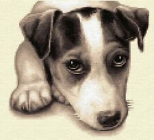JACK RUSSELL TERRIER, dog  - Full counted cross stitch sewing kit