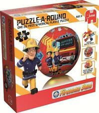 FIREMAN SAM - Puzzle-A-Round - Ball Spherical Plastic Puzzle 26 Piece
