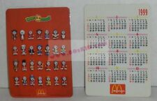 1998 McDonald's SNOOPY World Tour promo 1999 calendar card Hong Kong giveaway