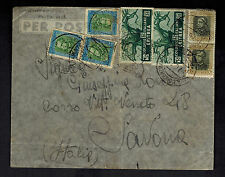 1936 Eritrea Airmail Cover to Army Post to Savona Italy