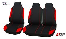 2+1 RED BLACK COMFORT SOFT FABRIC SEAT COVERS FOR VW TRANSPORTER T5 T4 CRAFTER