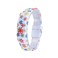 Women Girl LED Digital Sport Watch Bracelet Rubber Water Resistant Wristwatch