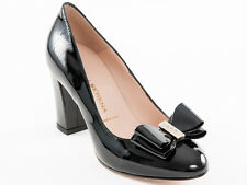 New Donna Serena Black Patent Leather Made in Italy Shoes Size 38 US 8