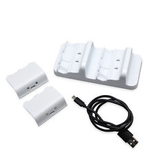 Dual Charger Dock+ Recharge Battery for Microsoft Xbox One S Wireless Controller