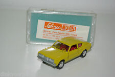 SCHUCO 301 838 FORD TAUNUS GXL COUPE YELLOW VN MINT BOXED RARE SELTEN RARO
