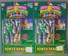 MIGHTY MORPHIN POWER RANGERS  2 ORIGINAL  GREEN TOMMY