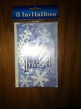 PACKAGE OF 8 CHRISTMAS / WINTER INVITATIONS - NEW IN PACKAGE