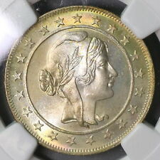 1934 NGC MS 66 BRAZIL Silver 2000 Reis Coin Top POP 3/0 (17010401C)
