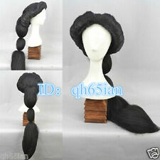 Disney Arabian Nights MAGI Aladdin Princess Jasmine Fluffy Black Cosplay Wig New
