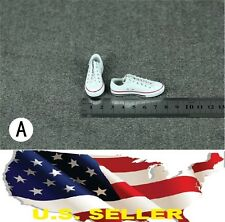 1/6 men shoes white Converse style Chuck Taylor Low Top for phicen hot toys USA