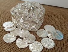 Wedding Arras Silver Plated /Unity Coins/ Heart Shaped Keepsake / Arras De Boda