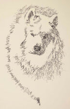 SAMOYED DOG ART Kline Print #79 DRAWN FROM WORDS Your dogs name added free. Gift