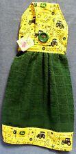 **NEW** Handmade John Deere Yellow Bandanna Hanging Kitchen Hand Towel #1057