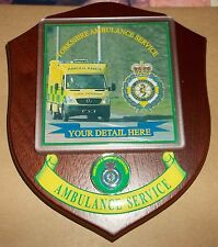 Yorkshire Ambulance Service wall plaque personalised free of charge.