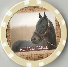 ** ROUND TABLE** #17 IN TOP 100 RACE HORSES   HORSE RACING COLLECTOR   CHIP