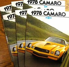 1978 Chevy Camaro Brochure Lot:  6 pcs, Xlnt Original Z28