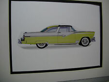 1956 Ford Crown Victoria artist Auto Museum Full color Illustrated not photo
