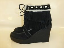 NEW SAM EDELMAN BLACK SUEDE KEMPER BOOTS  SIZE 7 UK  - boxed
