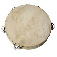 CHILDRENS KIDS TRADITIONAL WOODEN TAMBOURINE SCHOOL MUSICAL INSTRUMENT UC085