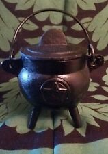 Cast Iron Cauldron Pentagram Pagan Wiccan Spell Altar Magic