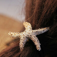 Fashion Womens Elasticity Starfish Alloy Issuer Hairband Hair Ring Accessories