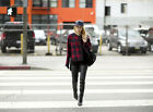 NEW ZARA STUDIO RED BLUE PLAID CHECKED JACKET OPEN FRONT OVERSIZE SZ M/L 1-SIZE