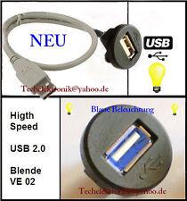 USB Einbaubuchse BELEUCHTUNG 90cm VW Stecker Kuplung Modellbau Adapter Anschluss