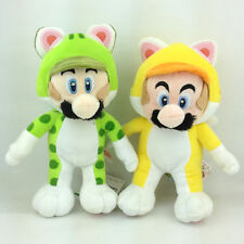 2X Super Mario 3D World Character Cat Mario Luigi Plush Toy Stuffed Animal 9.5""