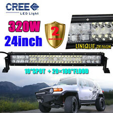 "320W 24INCH CREE LED Combo Work Light Bar Offroad Driving Lamp 4WD 23"" 22"" ATV."
