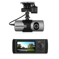 "R300 2.7"" GPS Logger Dual Lens Camera Car DVR G-sensor Dash CAM video recor"