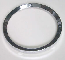 "Smiths / British Jaeger New Chrome Gauge Bezels 4"" for Classic Car, 27H397"