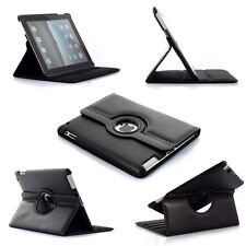 360° BLACK Rotating  iPad 5  AIR 1 SMART Leather Cover Case + Screen  Protector