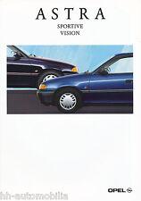 Opel Astra Sportive Vision Prospekt 4/93 brochure 1993 Auto PKWs Deutschland