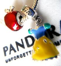 SNOW WHITE YELLOW BLUE DRESS RED APPLE DISNEY LAND CHARM BEAD PANDORA BAG