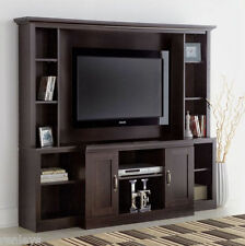 Large Entertainment Center TV Stand Media Console Furniture Wood Cabinet Theater