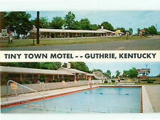 Vintage Post Card Tiny Town Motel Guthrie Phone 3-2500 Guthrie Kentucky   # 4678