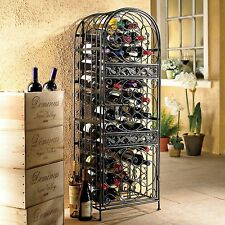 Wine Rack Bottle Holder Table Storage Bar Wood Metal Liquor Cabinet Decor Home