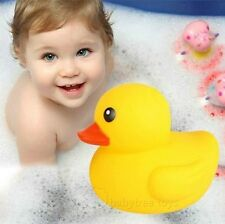 New Lovely Yellow Duck Baby Kids Bath Squeaky Rubber Duck Toys