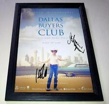 """DALLAS BUYERS CLUB PP SIGNED & FRAMED 12X8"""" POSTER MATHEW MCCONAUGHEY JARED LETO"""