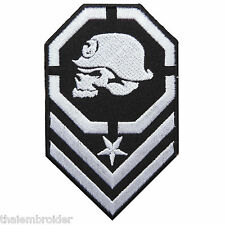 Skull Metal Mulisha Helmet Rock Star Biker Army Insignia Iron-On Patches #SK016