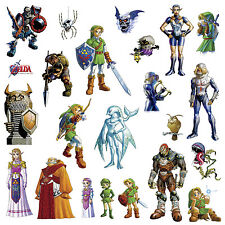 23 New THE LEGEND OF ZELDA WALL DECALS Kids Game Room Stickers Bedroom Decor