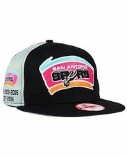 SAN ANTONIO SPURS NEW ERA PANEL PRIDE 9FIFTY HARDWOOD CLASSICS  SNAPBACK HAT CAP