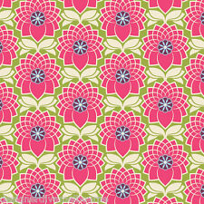 OOP Heirloom Chrysanthemum Fuchsia - Joel Dewberry - 100% cotton fabric