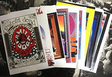 "Grateful Dead Lot of 12 Color Prints 8""x17"" All reproductions rock band Zeppelin"