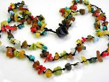 "BALTIC AMBER NECKLACE 50 cm/ 20 ""inch Coral  Howlite 2 Strands"