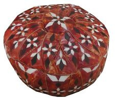 Handcrafted Moroccan Goat Leather Ottoman Pouf Footstool Pouffe Hassock #5